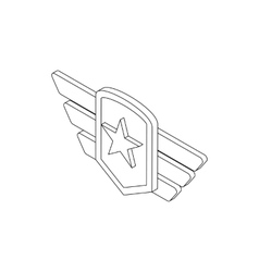 Army emblem icon isometric 3d style vector