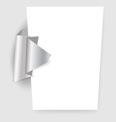 Presentation template with origami element vector