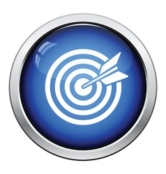 Target with dart in bulleye icon vector