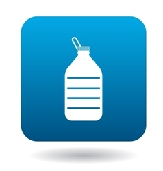Used plastic bottle icon in simple style vector