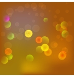 Abstract blurred background in yellow color vector