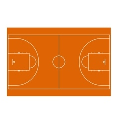 Basketball field for design vector image