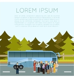 Bus trip banner vector image vector image