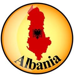button Albania vector image vector image