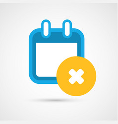 Calendar icon - delete vector
