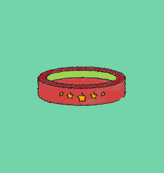 Circle circus or theater stage in hatching style vector