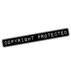 Copyright protected rubber stamp vector
