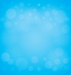 defocused lights blue abstract bokeh background vector image