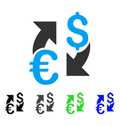 Euro dollar exchange flat icon vector