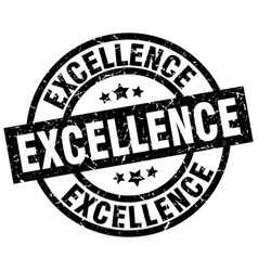 Excellence round grunge black stamp vector
