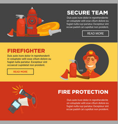 Fire protection and firefighter security team web vector
