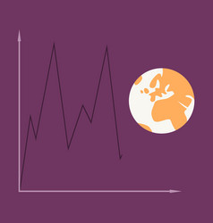 Flat icon on theme arabic business world economy vector