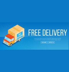 free delivery service banner vector image vector image