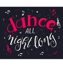 hand drawn music poster with handwritten lettering vector image vector image