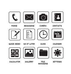 Icon basic a vector
