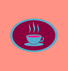 icon in flat design logo coffee cup vector image