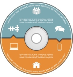 Infographics template with compact disk vector image