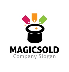 Magic sold design vector