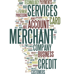 Merchant services text background word cloud vector