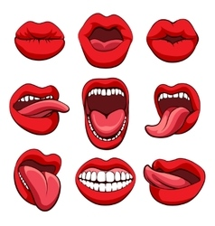 Mouths expressions set vector