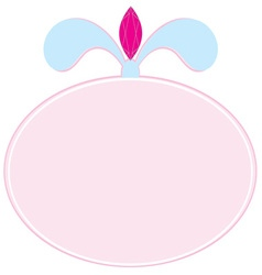 Pink plaque blank vector