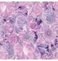 Purple soft floral pattern vector