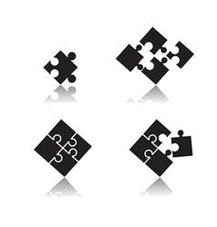 puzzle set vector image vector image