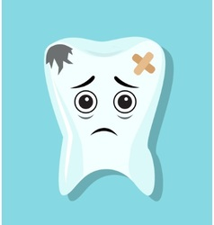 Sad and bad tooth vector