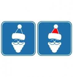 Santa symbol vector image vector image