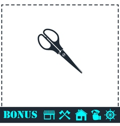 Scissors icon flat vector