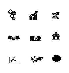 Set of business icon isolated on white background vector image vector image