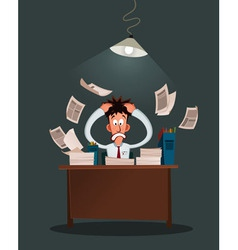 stressed worker vector image