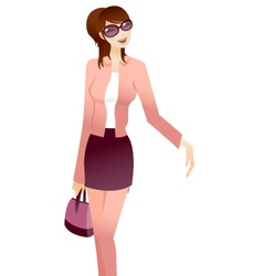 stylish woman vector image vector image