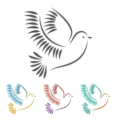 Stylized of a Dove vector image vector image