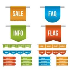 Web Ribbons vector image