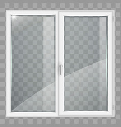 White window with transparent glass vector