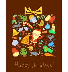 Winter holidays card vector image