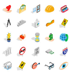 Worry icons set isometric style vector