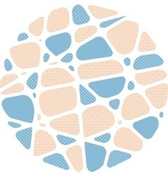 Abstract circle mosaic background vector image
