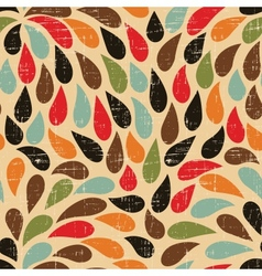 Seamless abstract retro drops pattern vector image