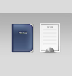 menu book and card vector image