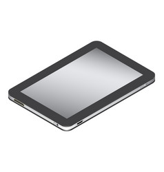 Realistic tablet in left side isometry isolated vector
