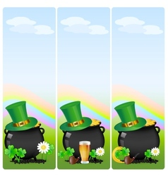 St patricks banner vector