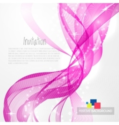 Pink modern abstract lines vector