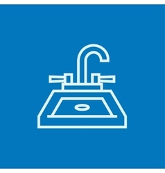 Sink line icon vector