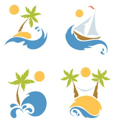 A Sea and a beach vector image