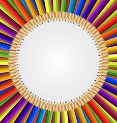 Abstract frame of colored pencils background vector image vector image