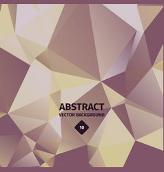 Abstract triangle background luxury golden vector