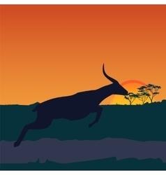 African savanna an evening landscape vector image vector image