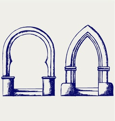 Arch vector image vector image
